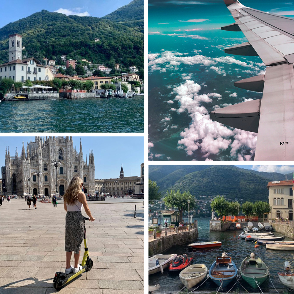 collage of travelling abroad
