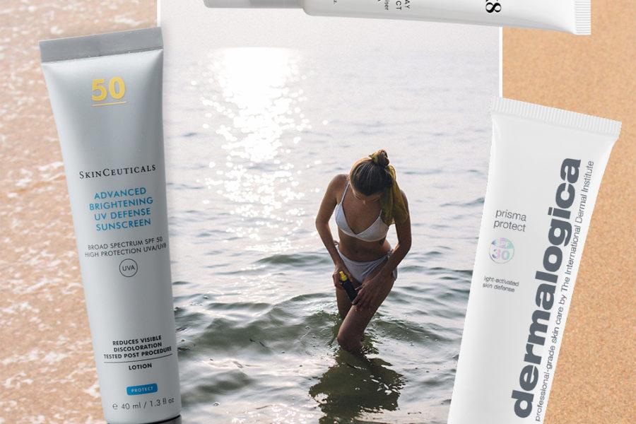 sunscreen on a beach