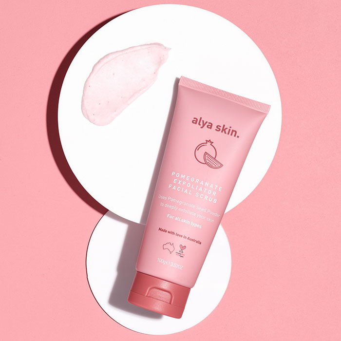alya skin pomegranate facial scrub