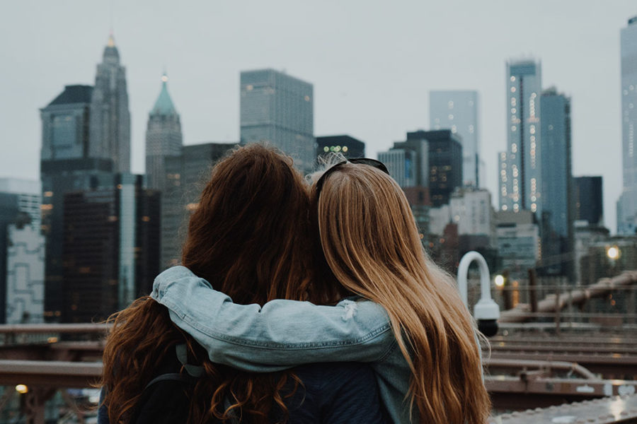 two friends in new york