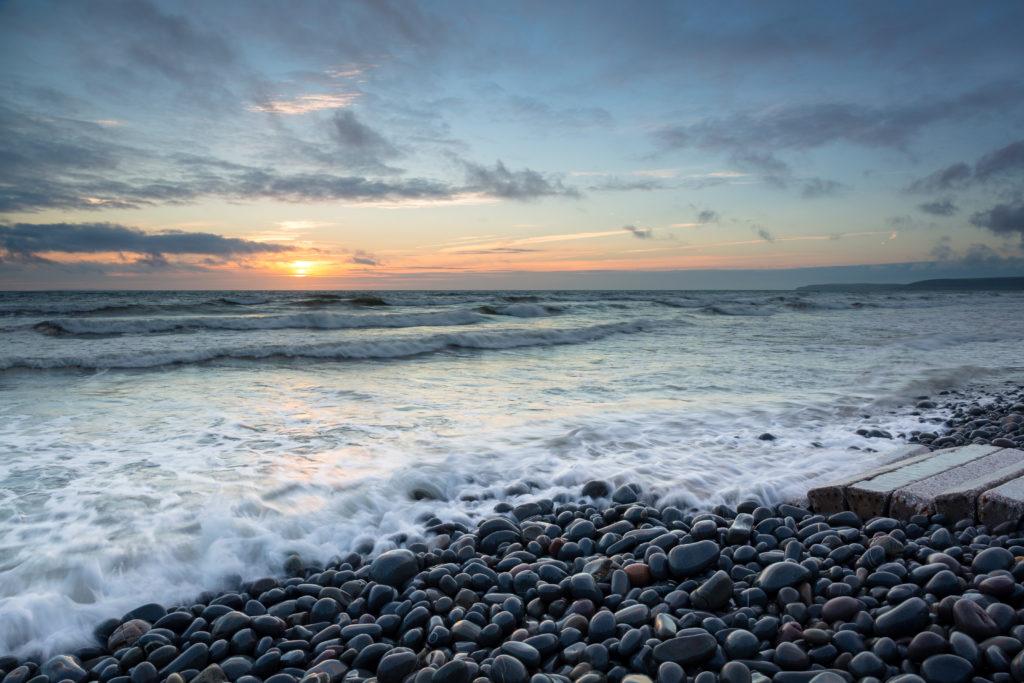 westward Ho beach in Devon