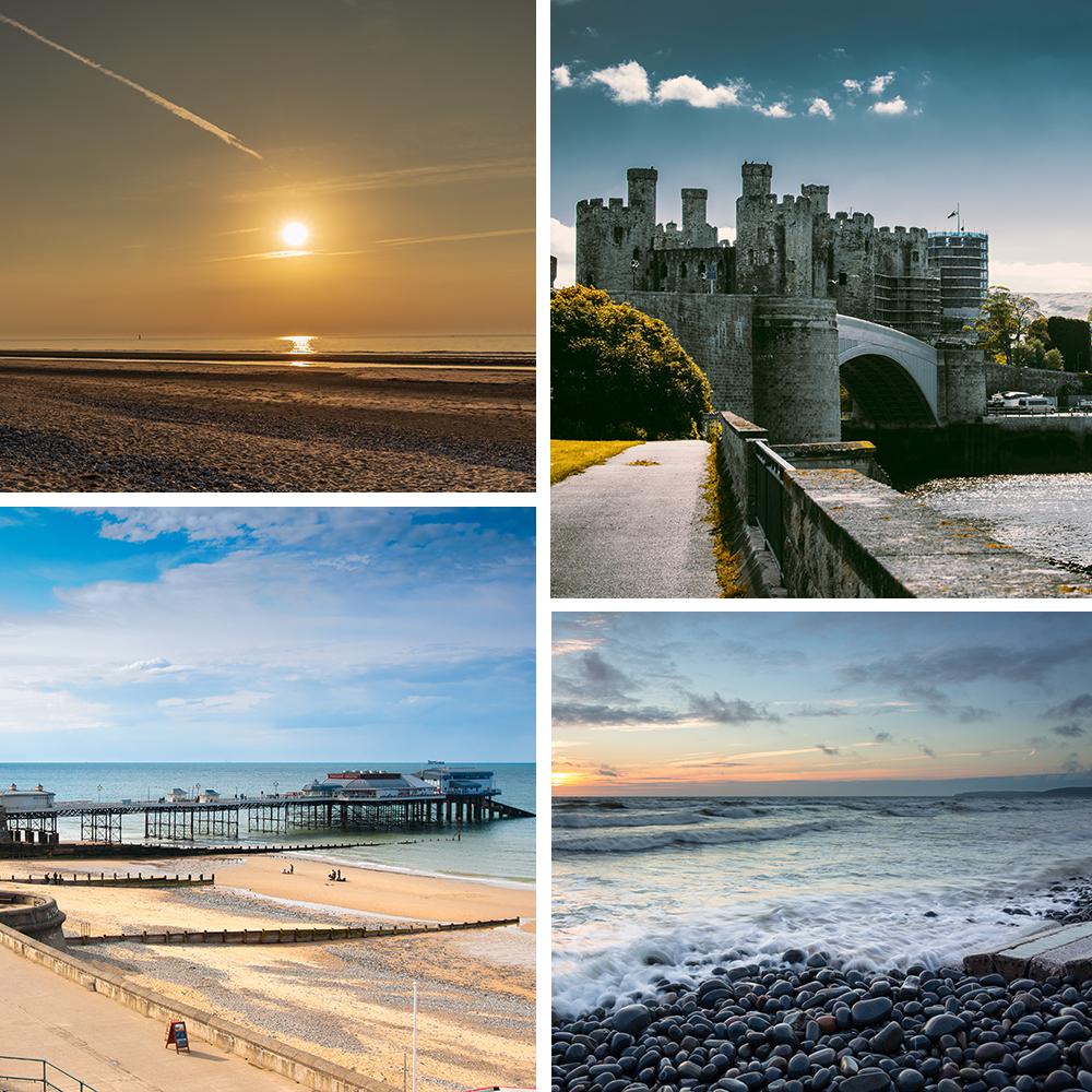 UK holiday inspiration collage