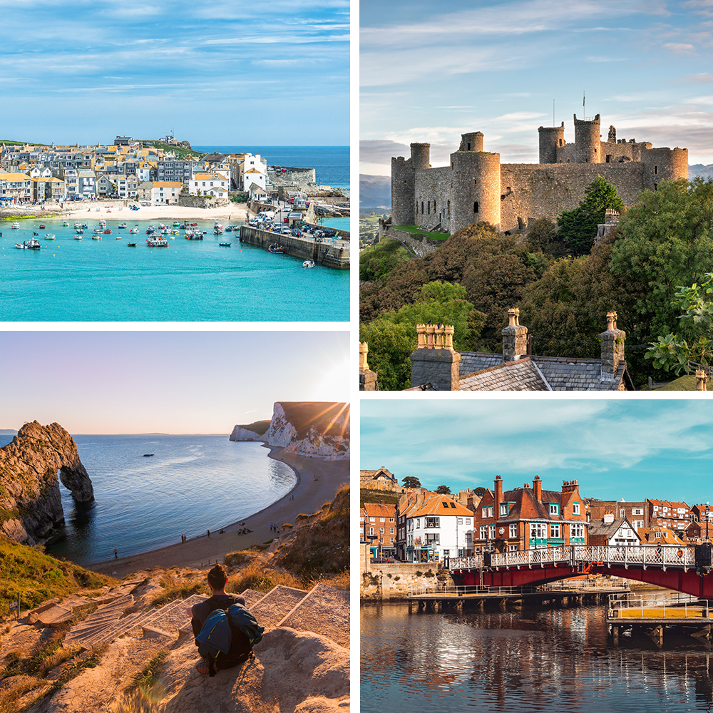 collage of the best UK staycations