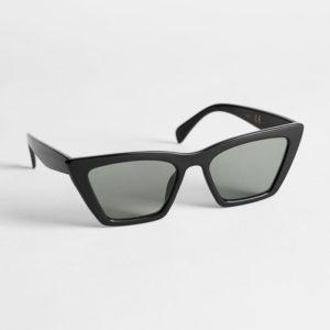 blue cat-eye sunglasses