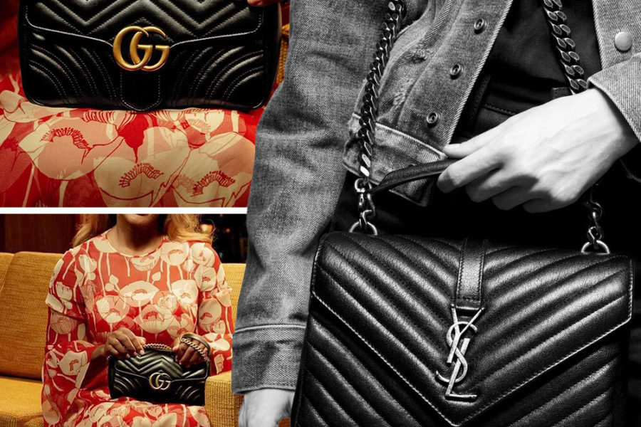 gucci and YSL bags