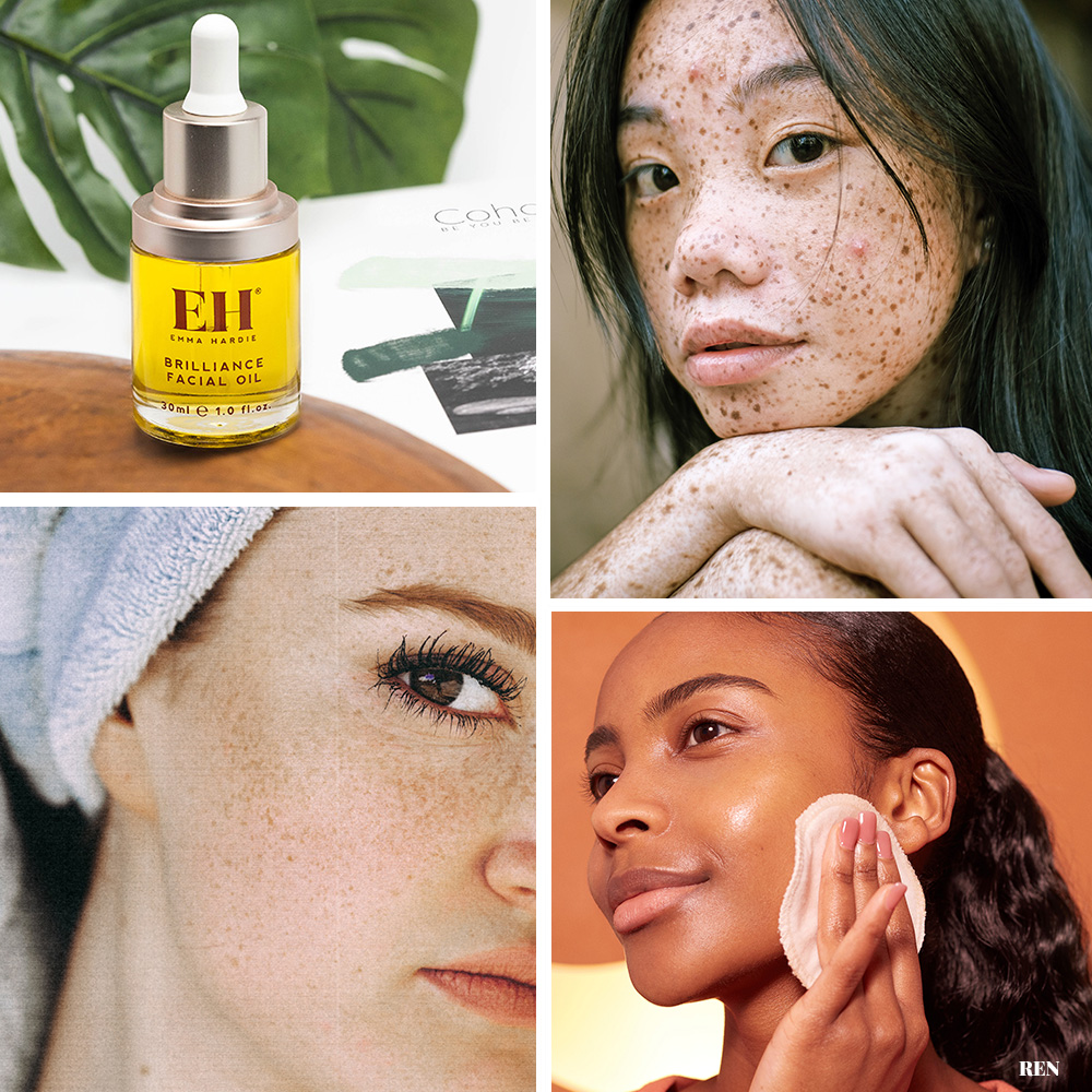 collage of different skin types