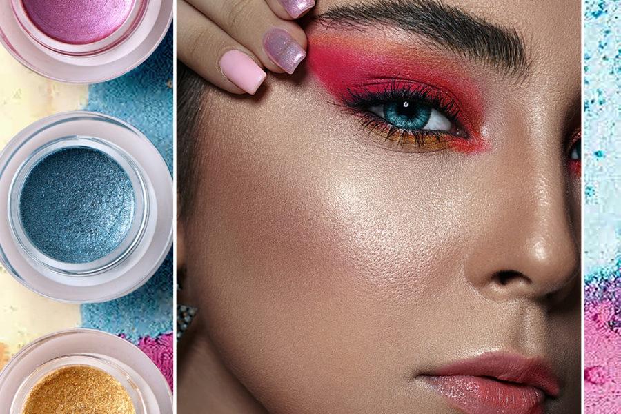 girl with colorful eyeshadow