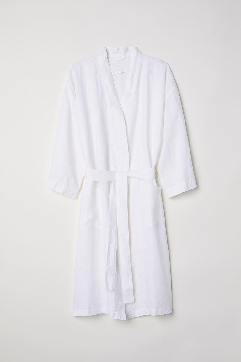 h&m white robe
