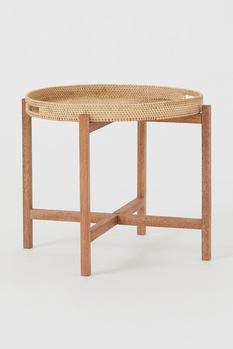 h&m rattan coffee table