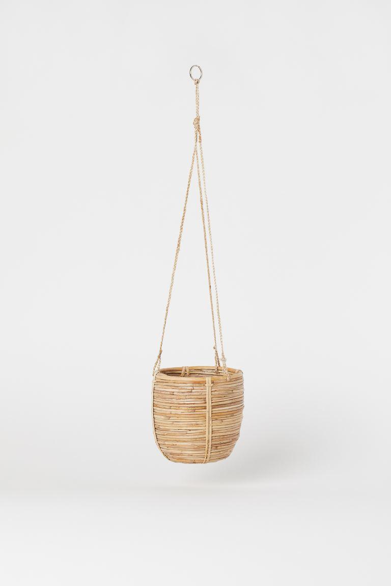 h&m rattan hanging basket