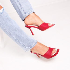 linzi shoes red mules