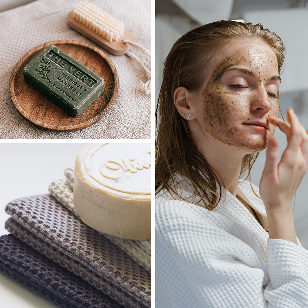 collage of plastic free beauty
